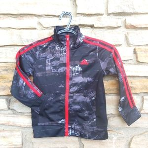 Adidas 4T Zip Up Abstract Sweater Jacket